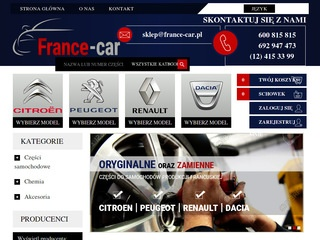 France Car - części do aut francuskich