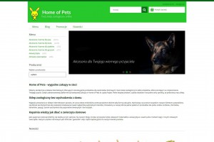 Sklep zoologiczny - Home Of Pets